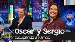 Óscar Jaenada y Sergio Peris-Mencheta cuentan la verdad del escupitajo a Rambo - El Hormiguero 3.0