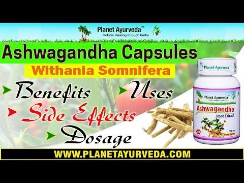 Ashwagandha capsules benefits and uses - Withania somnifera