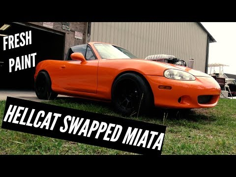 KARR - FINALLY PICKING UP HELLCAT SWAPPED MIATA!!! NEW HOUSE OF KOLORS CUSTOM FROM THE PAINT SHOP