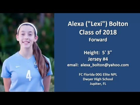 "Alexa (""Lexi"") Bolton Girls Soccer College Recruit 2018"