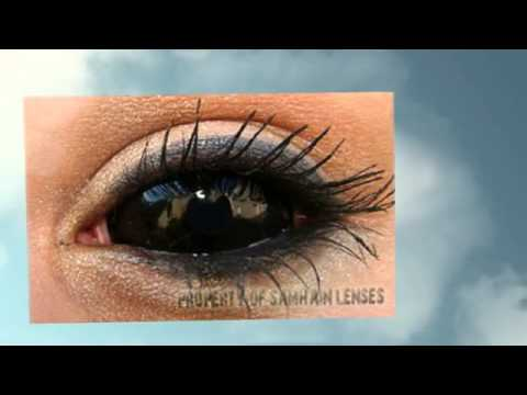 Free Contact Lens Trial >> black contact lenses full eye sclera - YouTube