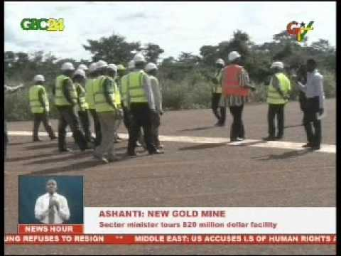 Ashanti Region; new $35 million gold mine, the second largest in the region
