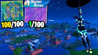 I Got 100 Fans to Compete by ONLY Landing at the NEW Pleasant Park!