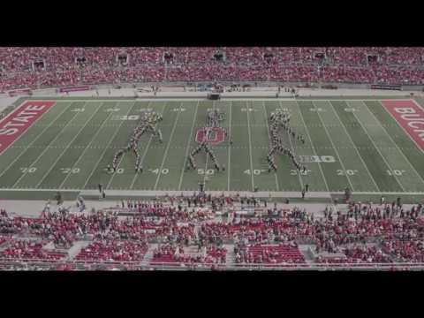 Nolan, Malone, Kullik and Tracey - Ohio State University's Marching Band Flosses During Halftime Show