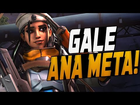 GALE DOMINATING AS NEW ANA! 40 ELIMS!  OVERWATCH SEASON 10 TOP 500