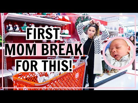 FIRST TIME LEAVING MY BABY! CHRISTMAS DECOR SHOPPING 2019! SHOP WITH ME 3 STORES | Alexandra Beuter