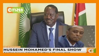 Outpouring farewell messages admirations for Hussein Mohamed as he leaves Citizen TV