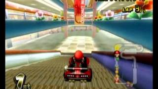Mario Kart on the Wii -- all 1st place -- 50cc -- Flower Cup