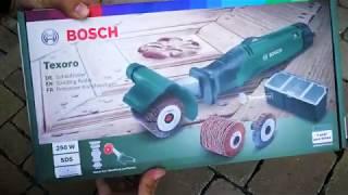 Unpacking / unboxing sanding roller Bosch Texoro 06033B5100