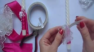 Свадебные свечи Мастер класс / декор / свадьба