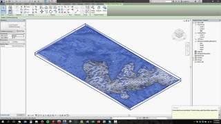 Google Earth to Revit Topography with texture material (no audio)