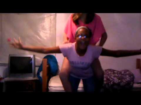 piggy back + strong girl:)