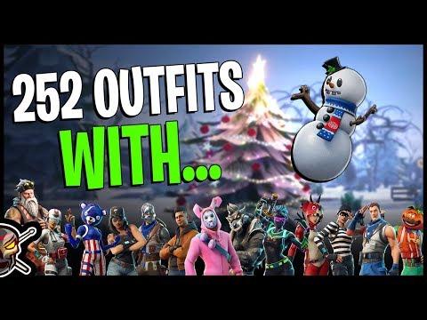 NEW *SLUSHY JR* Back Bling on 252 Outfits! - Slushy Soldier Outfit - Fortnite Season 7 Cosmetics
