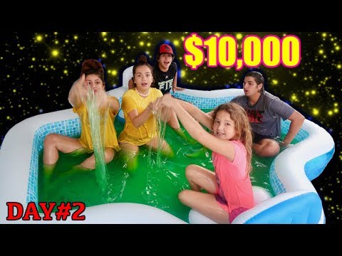 LAST TO LEAVE SLIME POOL WINS $10,000.00 day#2 | SISTER FOREVER