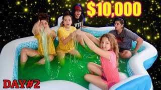 LAST TO LEAVE SLIME POOL WINS $10,000 | SISTER FOREVER