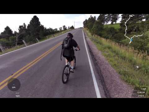 Biking Dinosaur Hill With Aaron