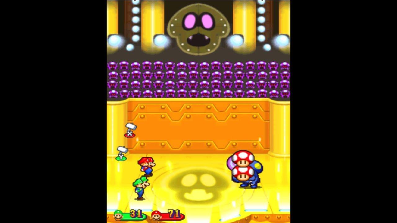 Mario Luigi Partners In Time Boss 7 Shrooboid Brat No Damage