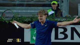 Winning is a piece of cake for David Goffin