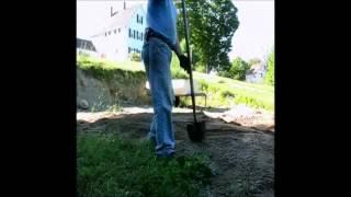 Old Man Spreading Gravel Fast