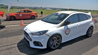 374HP Ford Focus RS vs 500HP BMW 1M Coupe