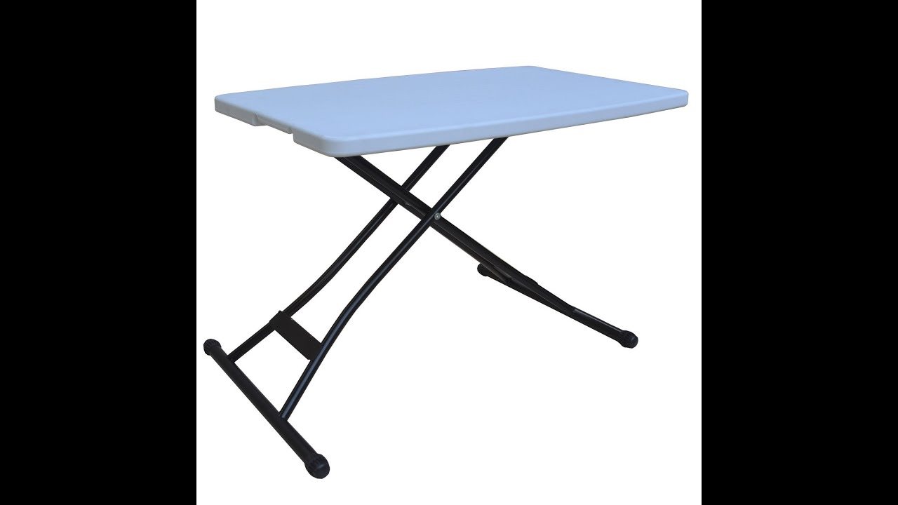 correll folding table 30 x 72 melamine top adjustable height