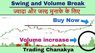 Swing trading with volume - (stock , forex and currency market) By Trading Chanakya 🔥🔥🔥