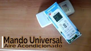 Como programar Mando Universal Aire Acondicionado K-1028E Universal Air Remote Control