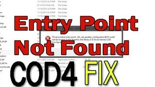 How to Fix The Procedure entry Point Could not be located in dynamic link library error | COD4