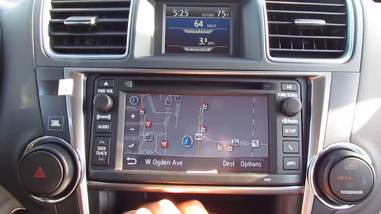 Toyota Highlander Limited >> 2013 Toyota Highlander Limited Entune Demo and differences ...