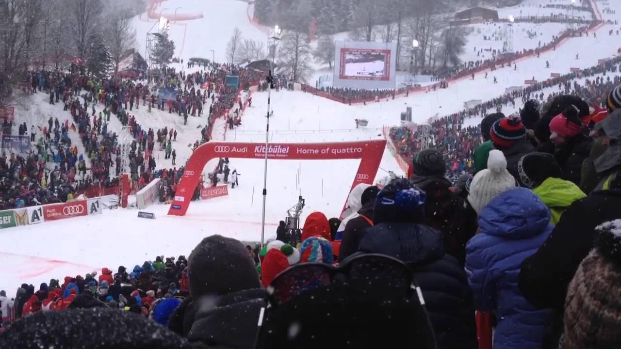 Mattias Hargin Kitzbühel  2015 Slalom Winner View from the Public
