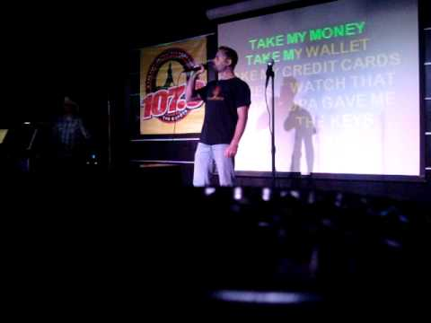 Joel Evangelist Singing Karaoke 3-12-11