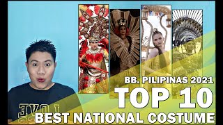Bb. Pilipinas 2021   Best National Costume (TOP 10)