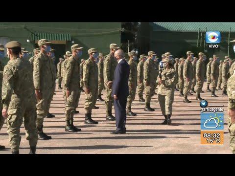 Contingente militar parte rumbo al Congo