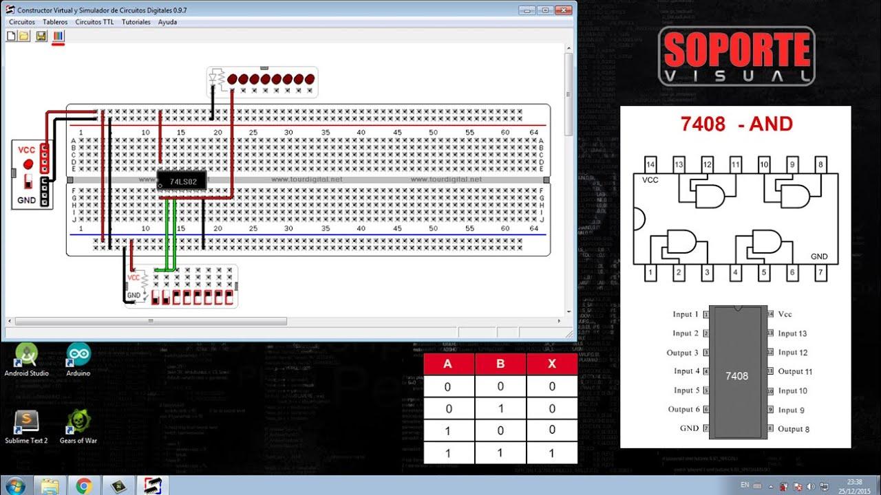 Circuito Xnor : Simulando compuertas lógicas and or not nand nor xor