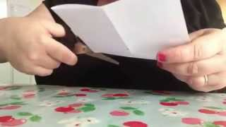 How to make a simple book out of a sheet of a4 paper.