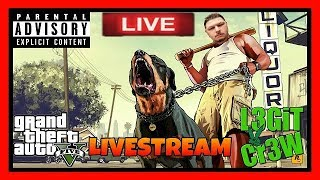 GTA V! Saturday Night Going Deep In These Grand Theft Auto V Multiplayer Streets LIVE! #L3GiTCr3W