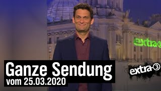 Extra 3 vom 25.03.2020 mit Christian Ehring | extra 3 | NDR