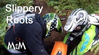 Enduro Riding - Slippery Roots