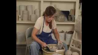 Danielle ~ The Clay Lady - Throwing a Ring Holder, Candle Holder or a Juicer on the Pottery Wheel