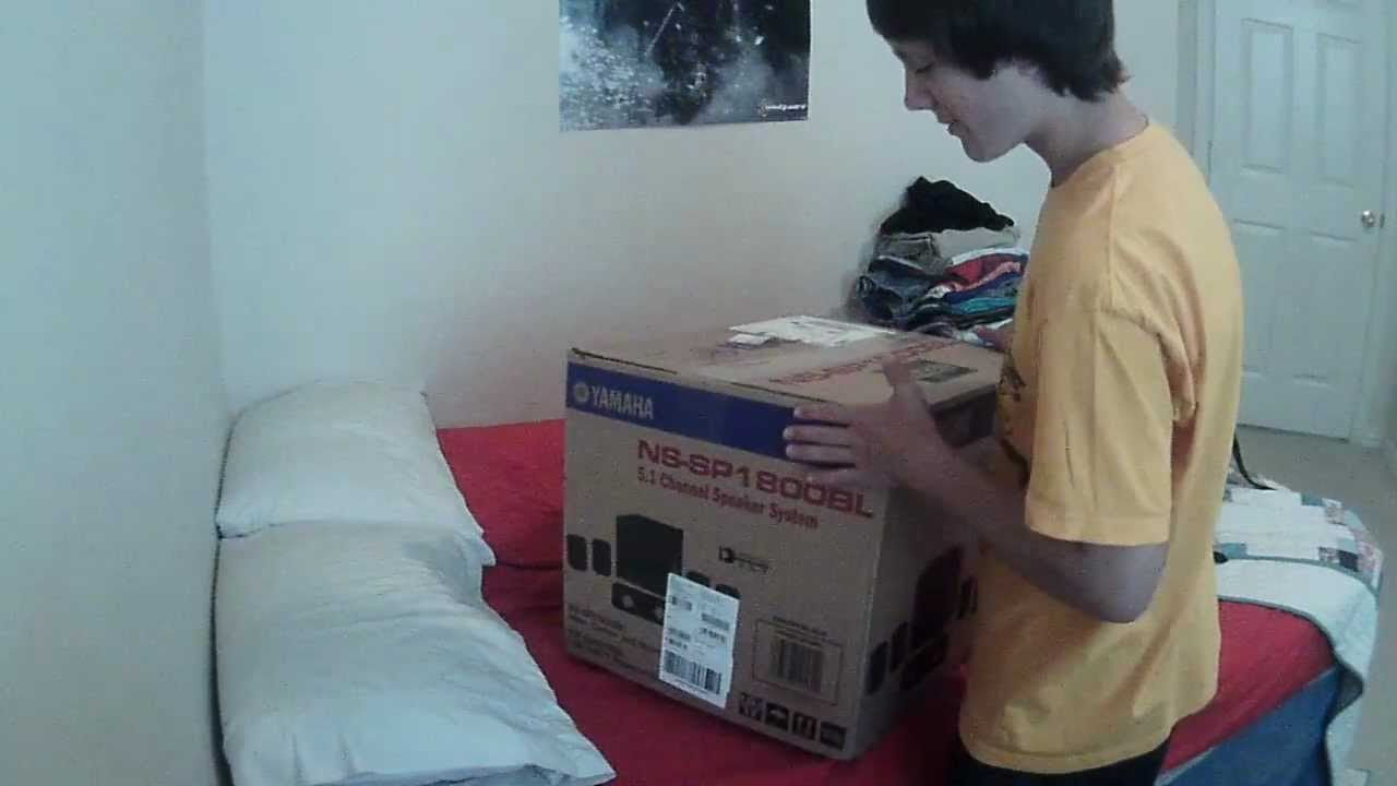 Yamaha 5.1 Surround Sound Speakers Unboxing - YouTube