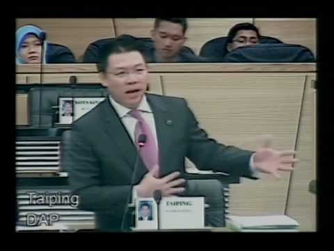 Parliament Oct/Nov 2011 - YB Taiping Questions Works Ministry