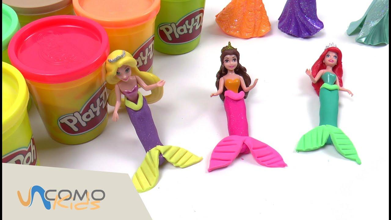 De Con Disney Princesas Vestidos Plastilina Play Doh Ib6fgYy7v