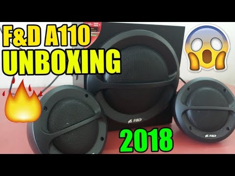 F&D A110 2.1 Channel Multimedia Speakers Unboxing and Review,Home Theater with Sound Test 2018