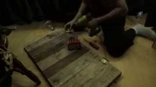 Making A Rustic Pallet Wood Bathroom Medicine Cabinet Door