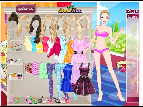 Barbie Game For Children   Barbie Dress Up Game On Youtube