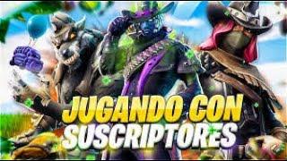 Fortnite En directo Jugando partidas con subs!