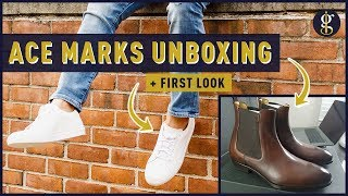 ACE MARKS Duke Sneaker + Troy Chelsea Boot Unboxing & First Look
