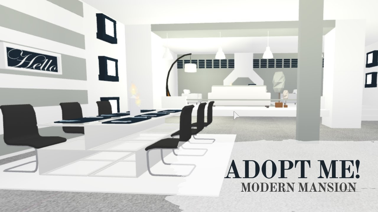 Adopt Me Modern Mansion Speed Build 1 Part Youtube