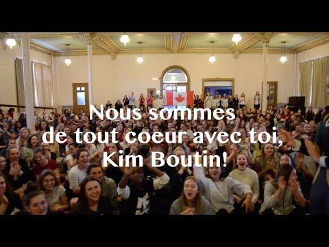 Message pour Kim Boutin | PyeongChang 2018