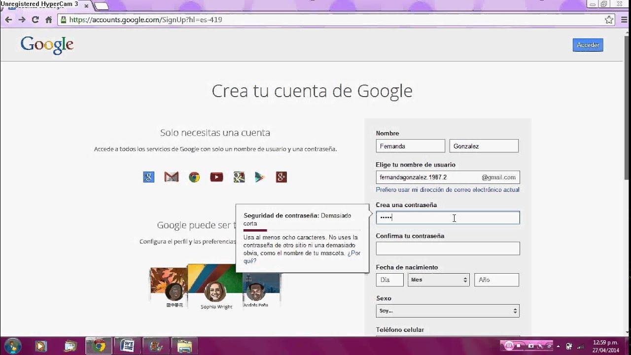 Cómo Crear Una Cuenta De Google Sin Tener Correo De Gmail